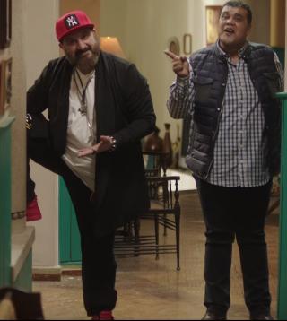 أحمد فتحي وخالد الصاوي في مشهد من الفيلم