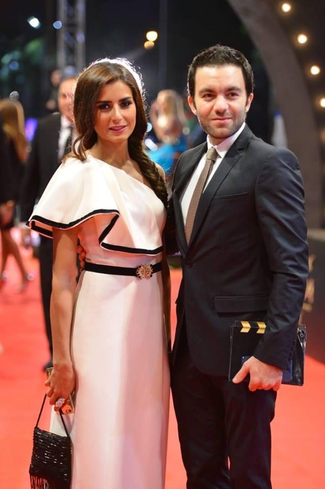 شريف رمزى بصحبه زوجته الفنانة ريهام أيمن