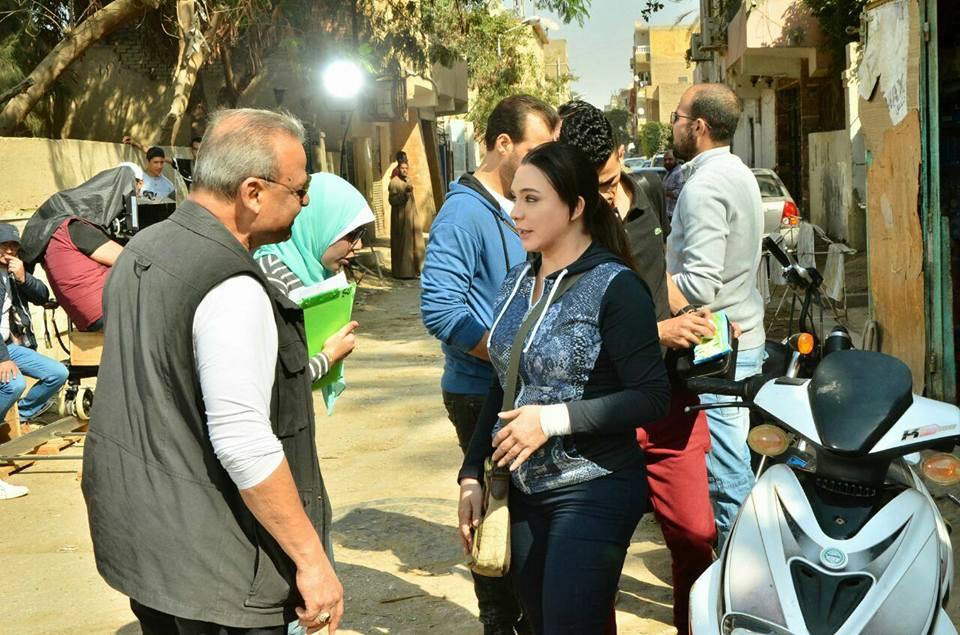 سلاف فواخرجى مع المنتج محمد الجابرى