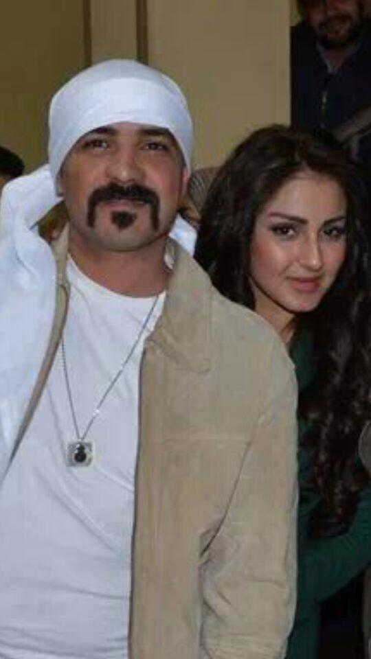 شيما الحاج مع محمد رجب فى كواليس سالم ابو اخته