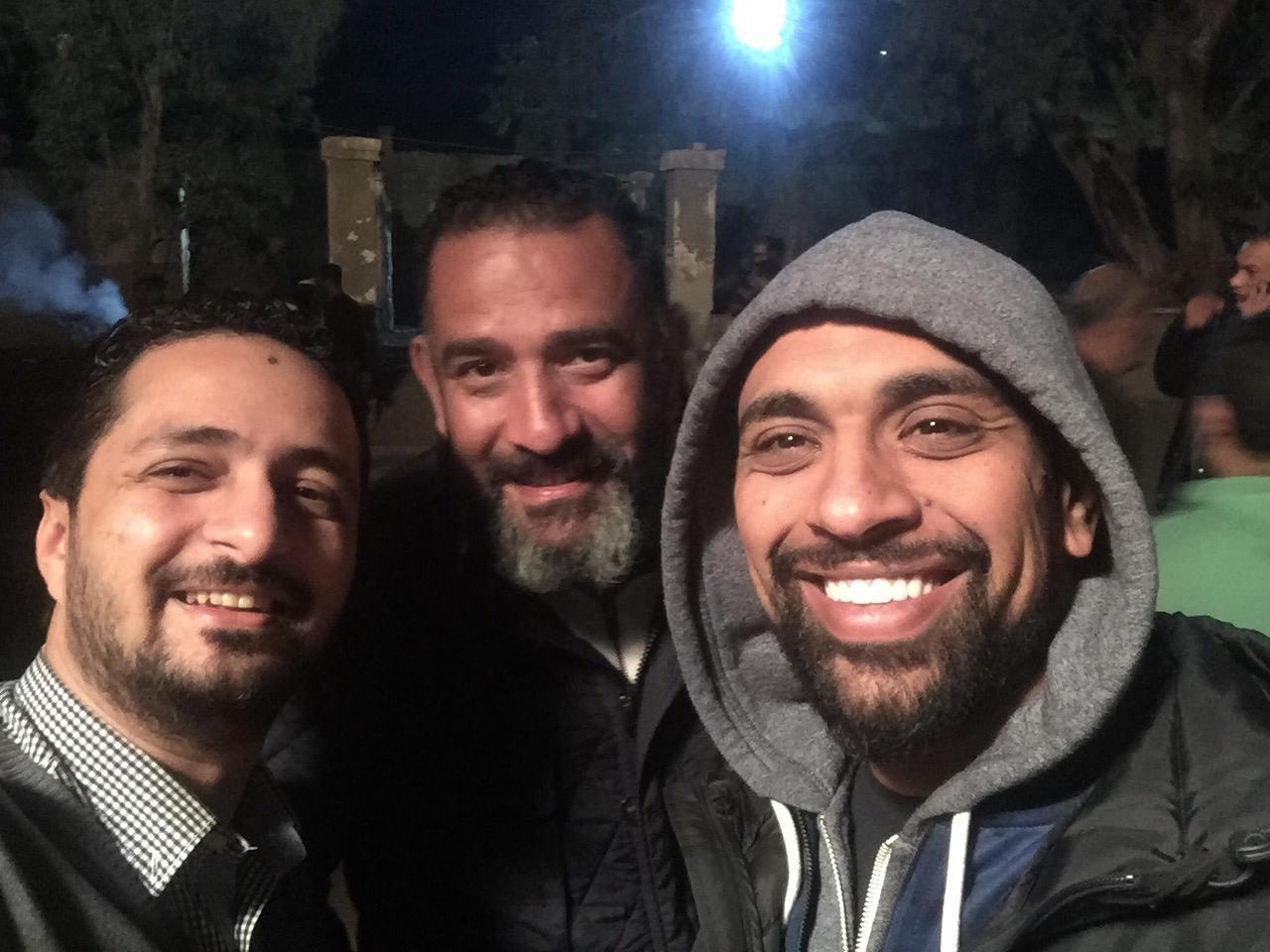المخرج حسام على والمؤلف أمين جمال والمنتج الفنى هانى عبد الله
