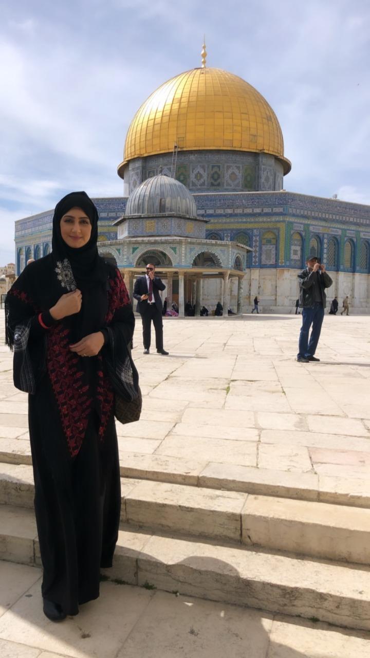 تكريم البحرينية هيفاء حسين فى فلسطين وزيارتها للقدس (3)