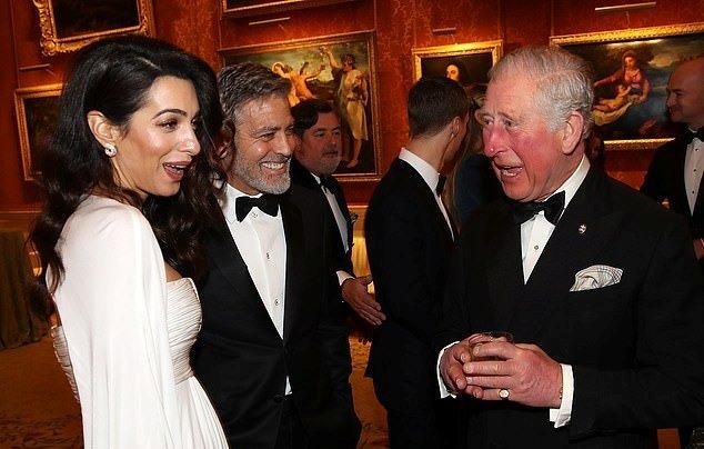 جورج و أمل كلونى فى حفل قصر باكينجهام (3)