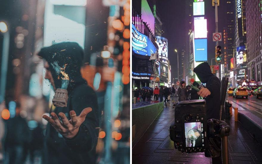 استخدام التماثيل الصغيرة فى التصوير الفوتوغرافى