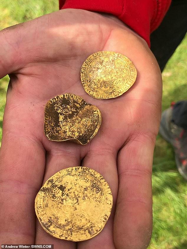 صيادى كنوز بريطانيين يعثرون على 550 قطعة من العملات الذهبية (1)