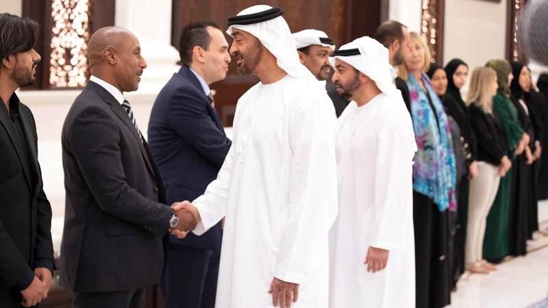 استقبال محمد بن زايد