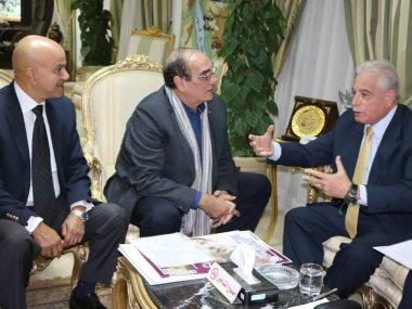 محافظ جنوب سيناء يستقبل رئيس مهرجان شرم الشيخ