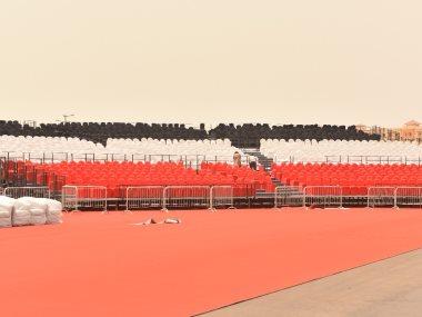 استعدادات حفل تامر حسنى فى السعودية
