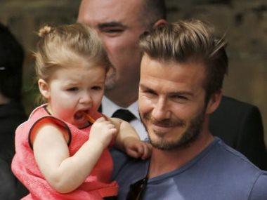 ديفيد بيكهام وابنته
