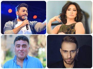 شيرين وتامر حسني وحسام حبيب وتامر حبيب