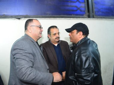 جانب من عزاء شقيق محمد فؤاد