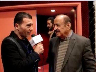 النجم السوري اسعد فضة مع جمال عبد الناصر