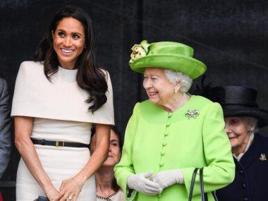 الملكة اليزابيث وميجان