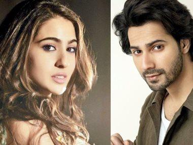 الممثلان الهنديان فارون دهاون و سارة على خان