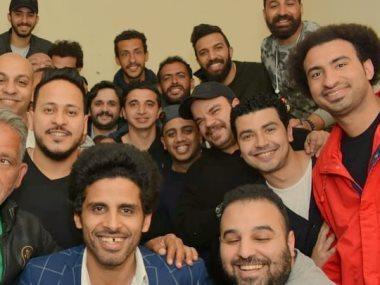 نجوم مسرح مصر يحتفلون بعيد ميلاد على ربيع