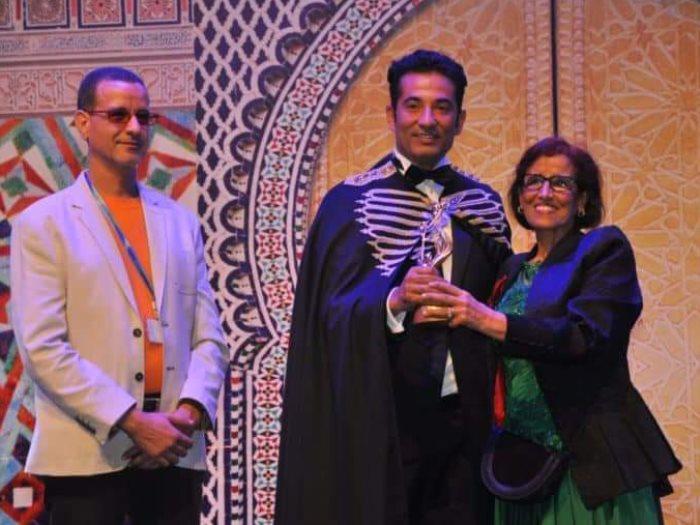 عمرو سعد خلال تكريمه