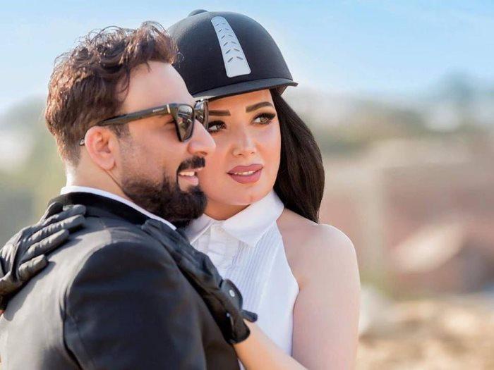 عبير صبرى وزوجها أيمن البياع