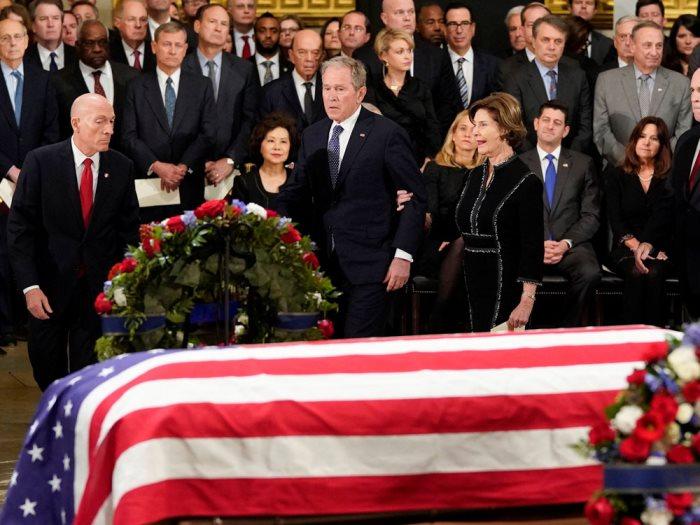 تأبين الرئيس الأمريكى الأسبق جورج بوش الأب