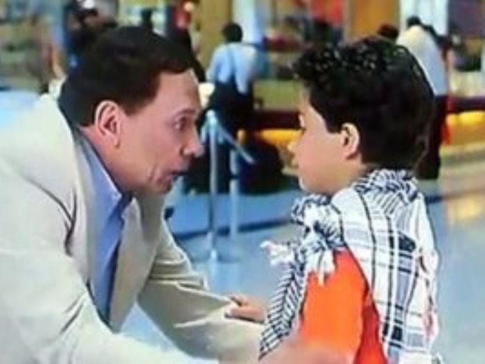 نجل المخرج عمرو عرفة مع الزعيم
