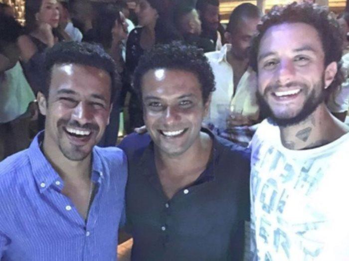 أحمد الفيشاوى ينشر صورته مع آسر ياسين وأحمد داوود