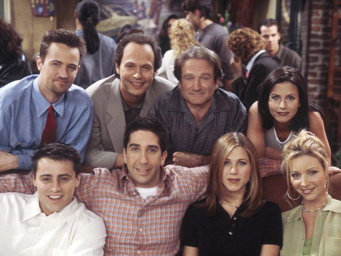 روبن ويليامز مع نجوم مسلسل Friends
