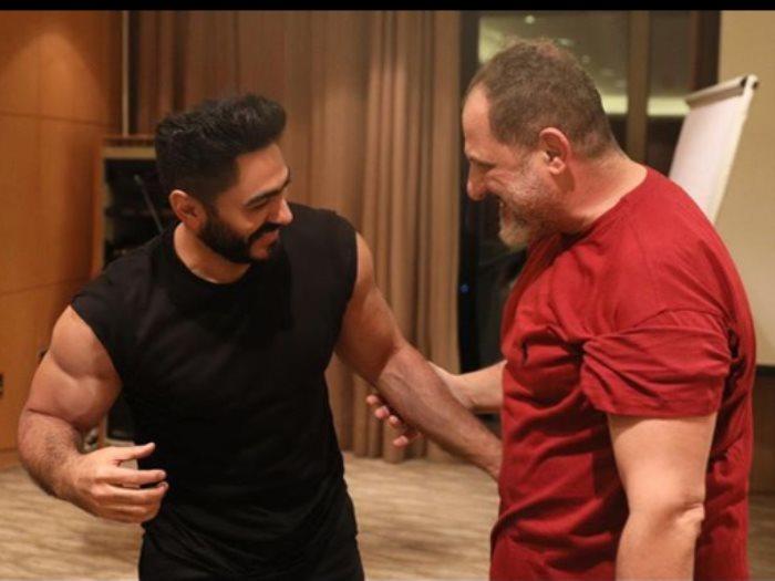 خالد الصاوى و تامر حسنى