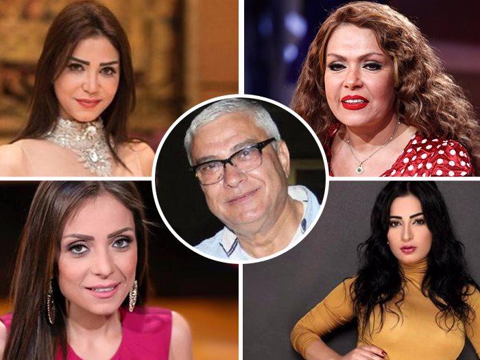 محمد النقلى وحوله لوسى وريم البارودى وايناس عز الدين ودنيا المصرى