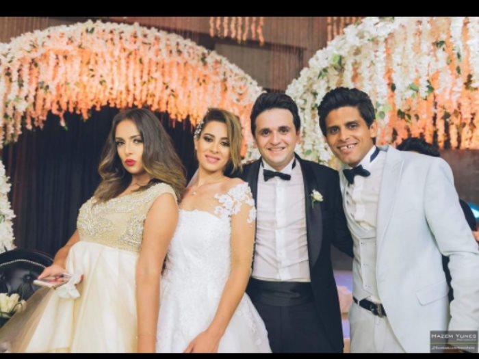 67973b0c9145b إسراء عبد الفتاح تنشر صورة من حفل زفاف مصطفى خاطر - عين