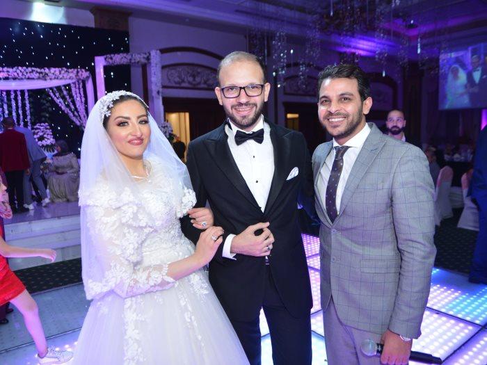 محمد رشاد مع الزميلين زكى مكاوى وهدير الصادق