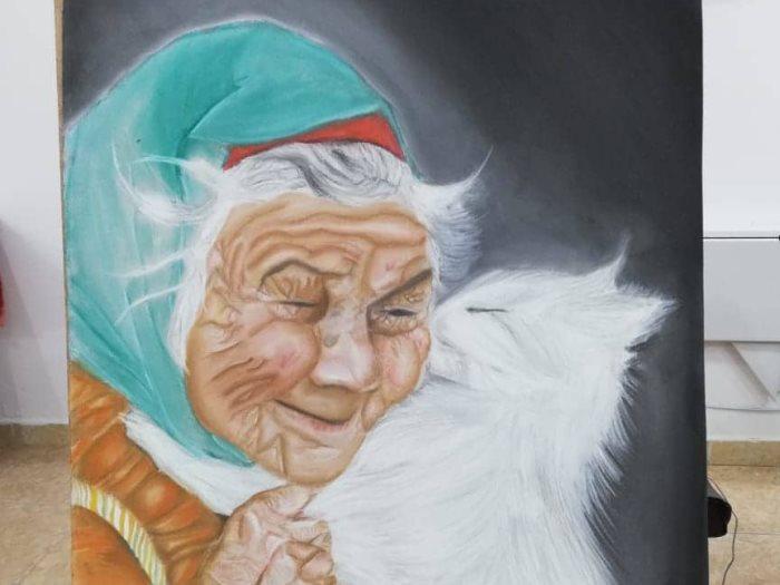 اللوحة الفنية للطفلة سادين احمد