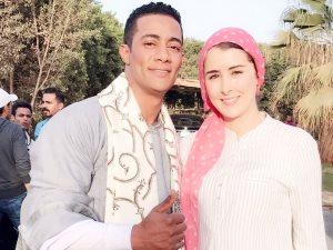 شاهد.. عائشة بن أحمد ومحمد رمضان فى مشهد من مسلسل «نسر الصعيد»