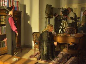 الصور الأولى لـ يسرا فى تصوير مسلسلها «بنى يوسف»