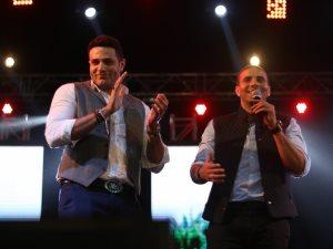 صور.. محمد نور يدعو محمد زيدان للمسرح لدعم مصر
