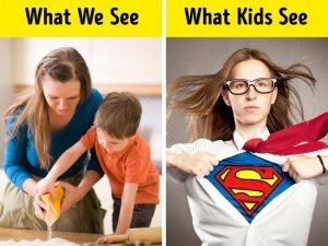 5 صور توضح الفارق بين نظرة الأطفال ونظرتنا للحياة