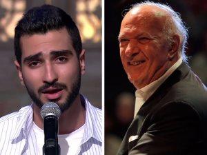 سر وقوف محمد الشرنوبى وتصفيقه بفرحة فى حفل الموسيقار عمر خيرت