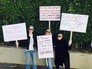 صور.. نجوم هوليوود فى مسيرة Womans March 2018