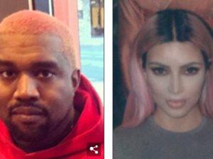 شاهد.. كانى ويست نسخة من كيم بعد تغيير لون شعره للوردى