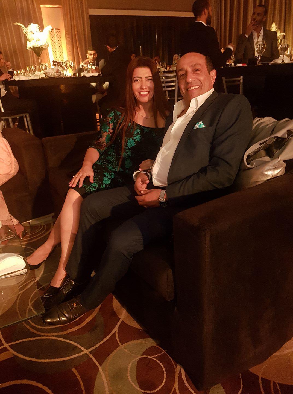 أحمد صيام وزوجته رانيا فتح الله
