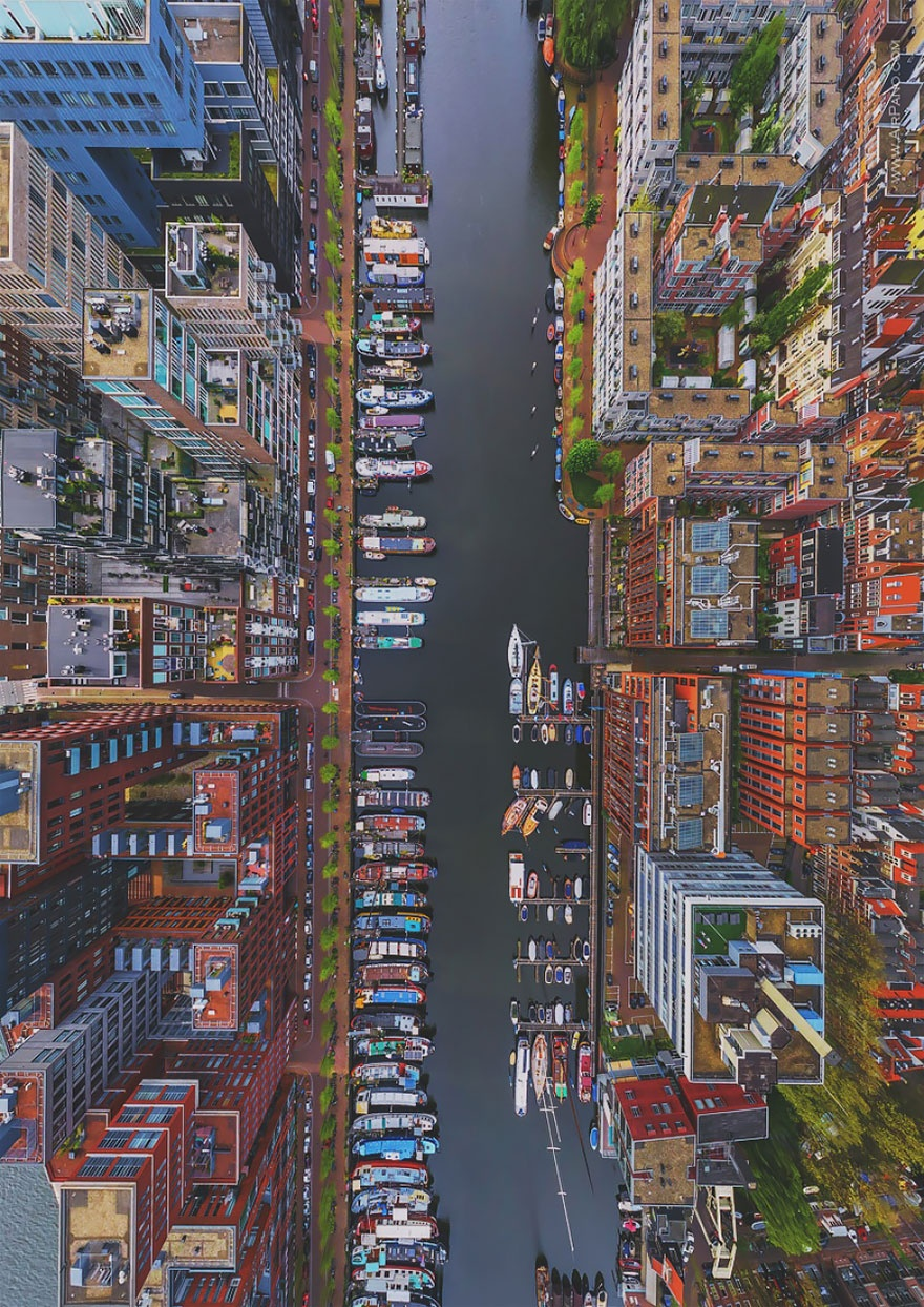 Westerdok district in Amsterdam, Netherlands