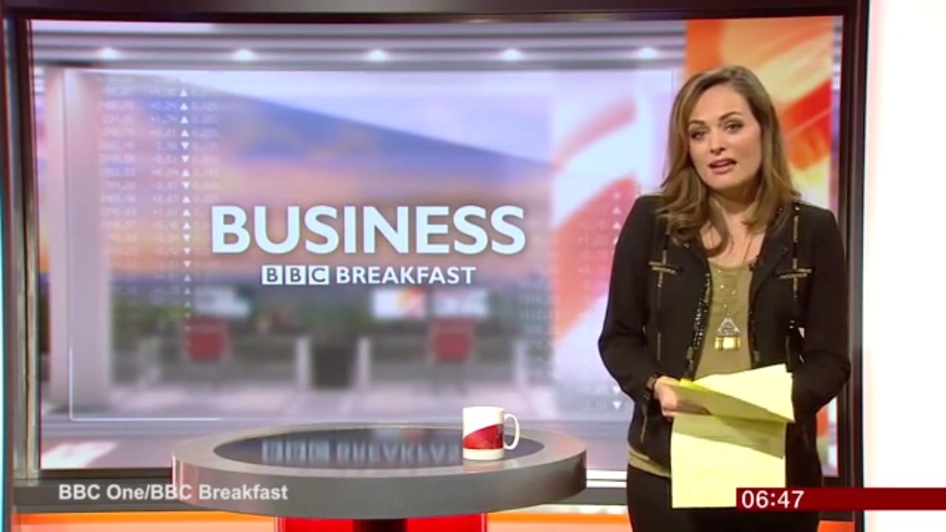 مذيعة بي بي سي