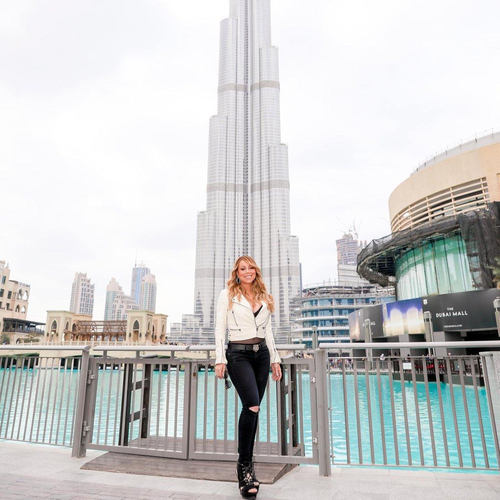 Mariah-Carey-Visits-Dubai-Burj-Khalifa-February-2017