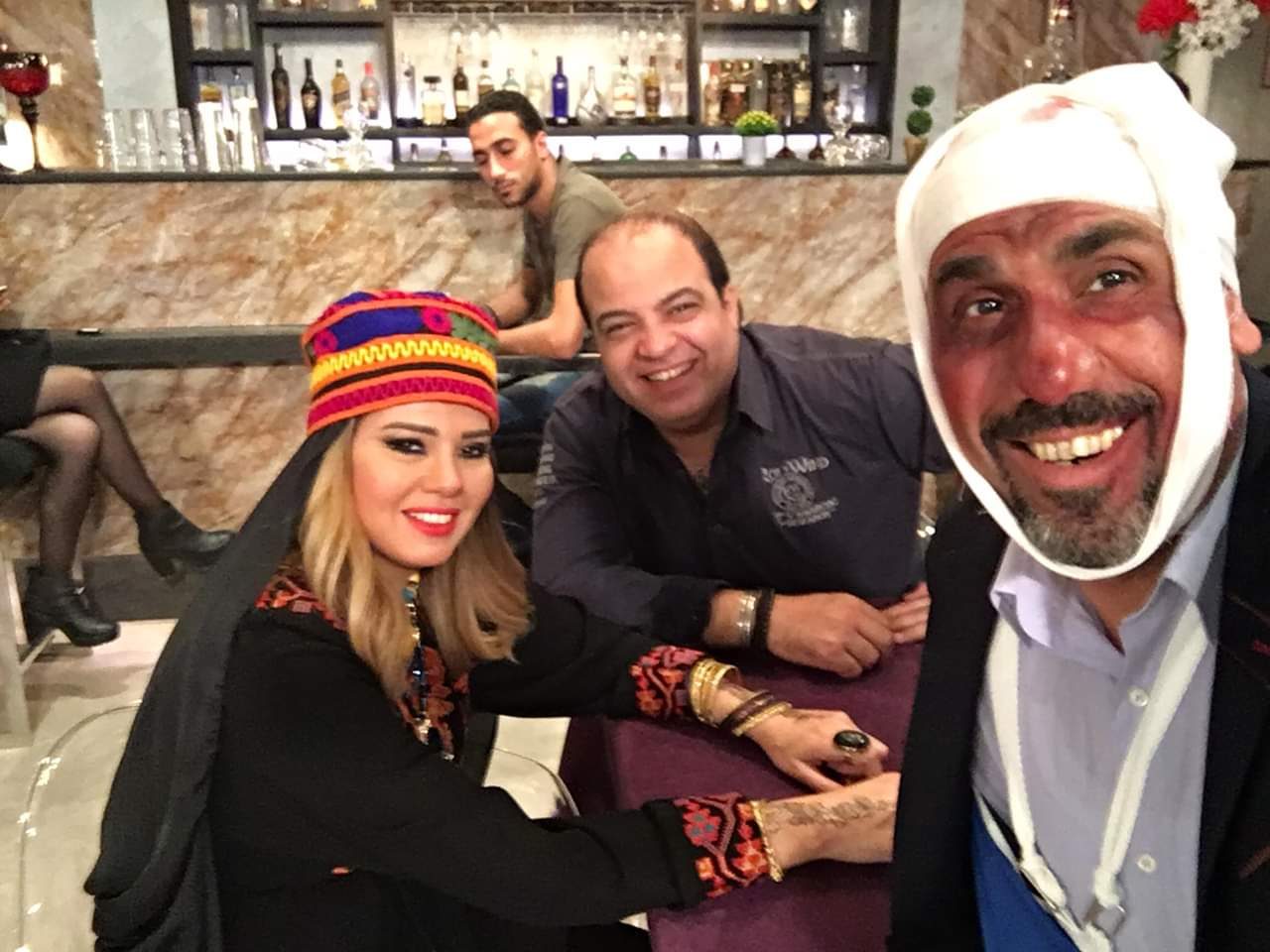 رانيا فريد شوقى فى كواليس المسلسل