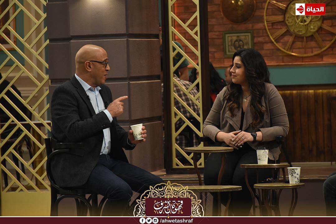 أشرف عبد الباقى و آيتن عامر و زوجها  محمد عز العرب (8)