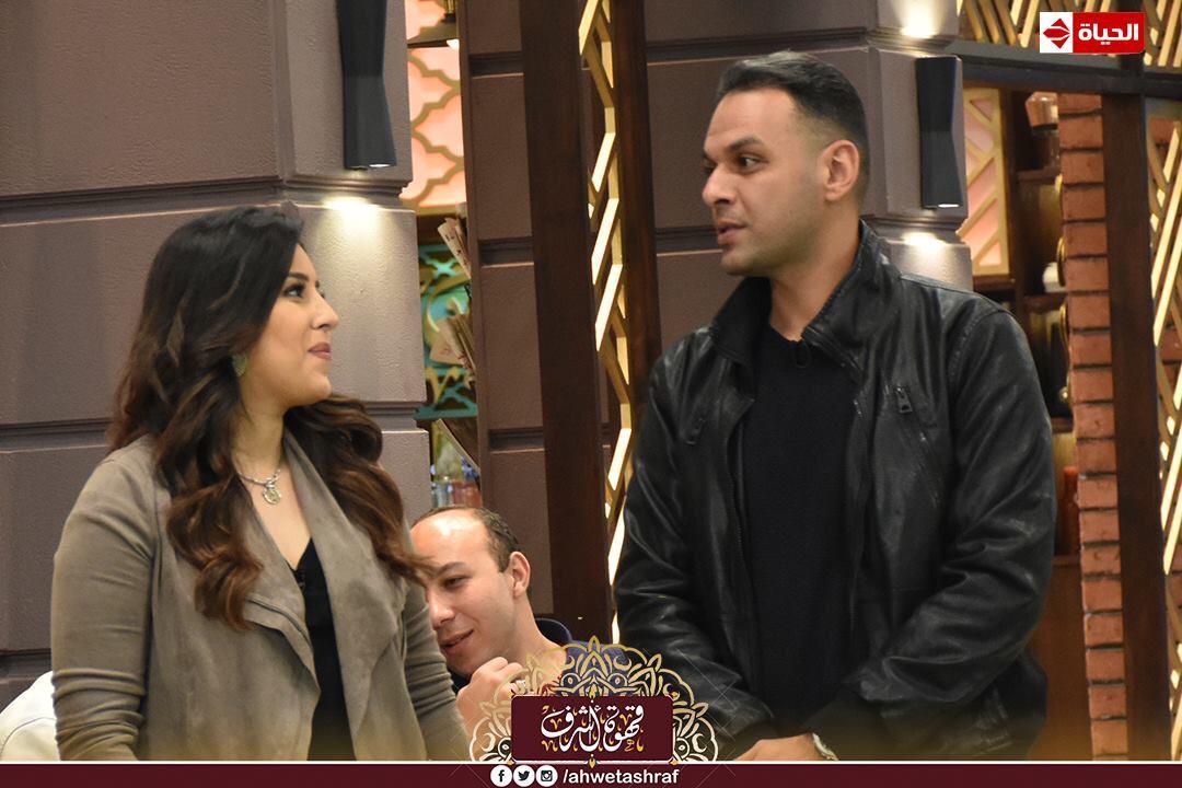 أشرف عبد الباقى و آيتن عامر و زوجها  محمد عز العرب (2)