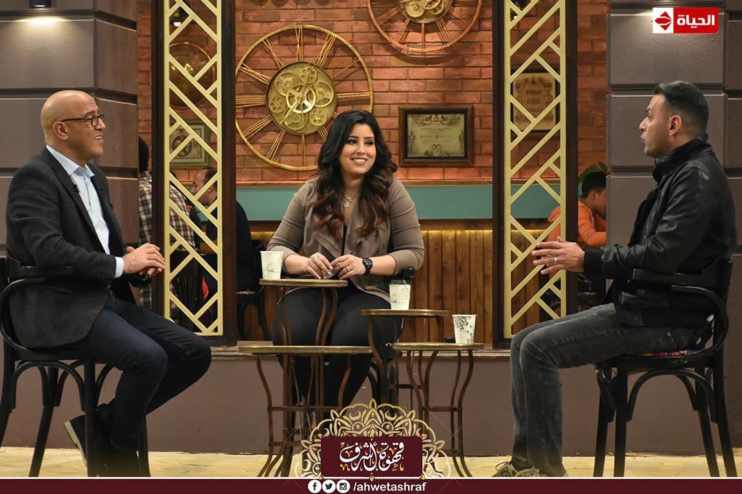 أشرف عبد الباقى و آيتن عامر و زوجها  محمد عز العرب (7)