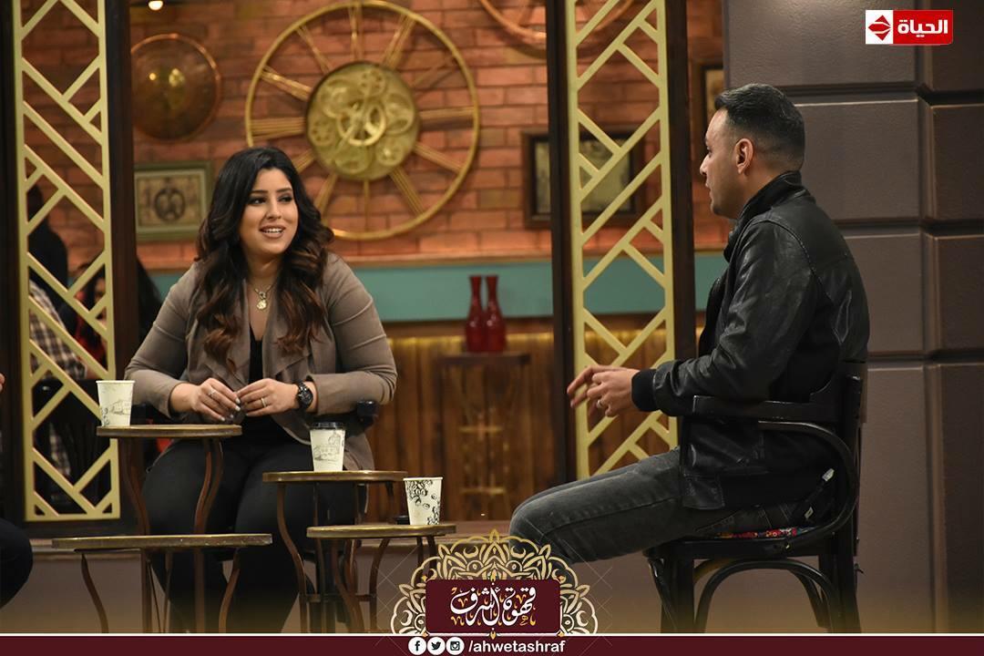 أشرف عبد الباقى و آيتن عامر و زوجها  محمد عز العرب (6)