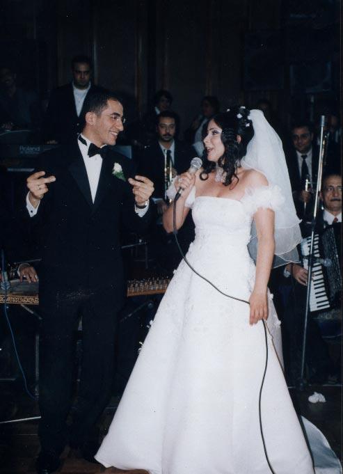 منى زكى و أحمد حلمى فى حفل زفافهما