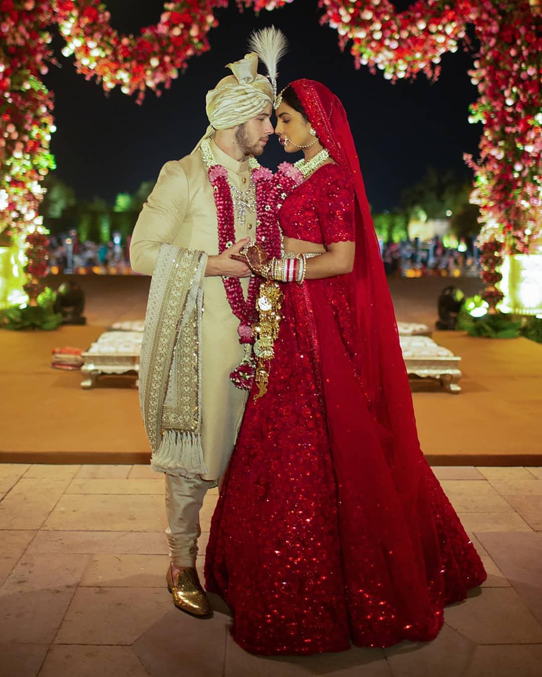 بريانكا فى حفل الزفاف على الطريقة الهندية