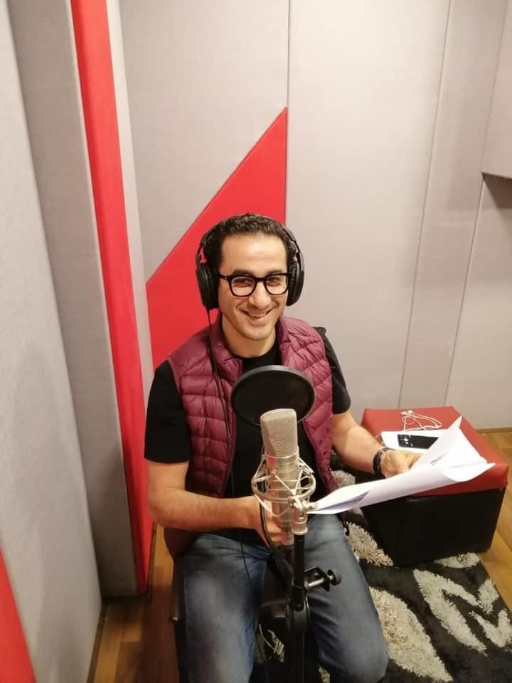 أحمد حلمى أثناء التسجيل