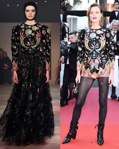 إيفا هيرزيجوفا تصميم دار أزياء dior
